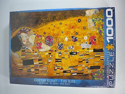 NEW Gustav Klimt The Kiss 1000 Piece Jigsaw Puzzle by Eurographics Free Shipping