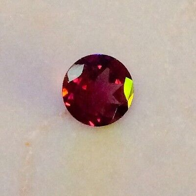1 Pc Round Cut Shape Natural Rohdolite Garnet 7Mm Aaa Loose Gemstone
