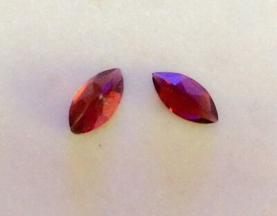 2 PC MARQUISE CUT SHAPE NATURAL GARNET 8MM x 4MM ASSORTED LOOSE GEMSTONE