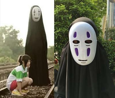 Halloween Spirited Away No Face Faceless Cloak Gloves Mask Cosplay Costume