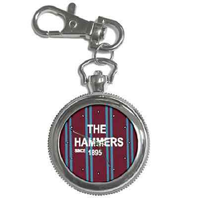 The Hammers Since 1895 West Ham Round Keychain Watch **great Gift Idea**
