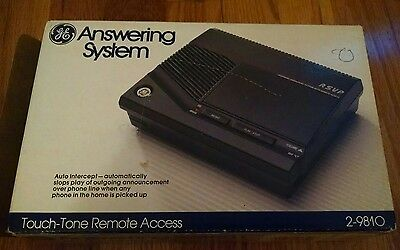 GE Answering Machine System 2-9810 Phone Message Recording Tape Voice Memo New