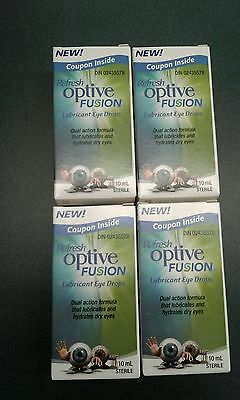 Refresh Optive Fusion Lubricant Eye Drops 4x10 mls (FAST SHIP!)