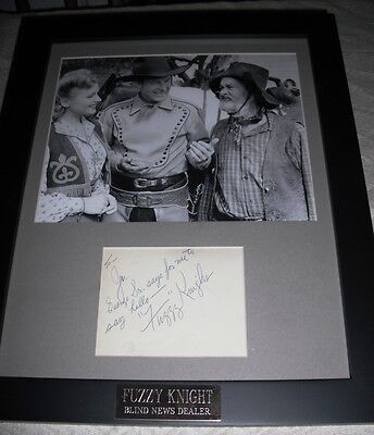 FUZZY KNIGHT Guest star of BATMAN Framed Matted Signed Autograph Autgraphed