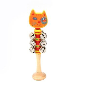 NEW South America Animal Bell Stick - Cat from Baby Barn Discounts