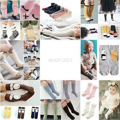 AU Baby Socks Kids Girl NewBorn Infant Toddler Cotton Knee High Hosiery Stocking