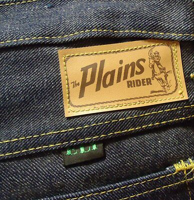 NOS VTG 60s Blue Denim Ely Plains Rider Boys 16 Jeans DEADSTOCK USA Rockabilly