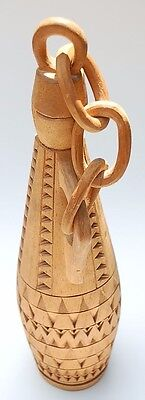 One of its Kind Hand-Carved South-American Suriname Cedar Jug with Cork Lid