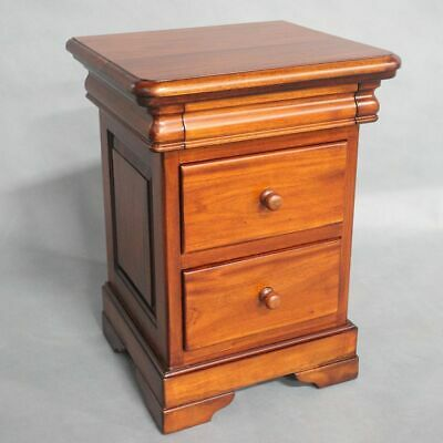 Solid Mahogany Wood Bedside Table / Bedroom Furniture Antique Style