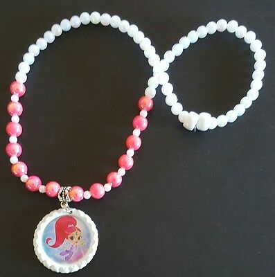 1 x Shimmer and Shine Handmade Beaded Necklace