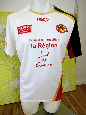 Catalans Dragons Training T Shirt Mens Size L