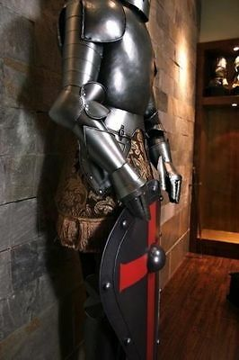 Vintage Knight Suit of Armor Medieval Combat Full Body Armour W/Stand Medieval