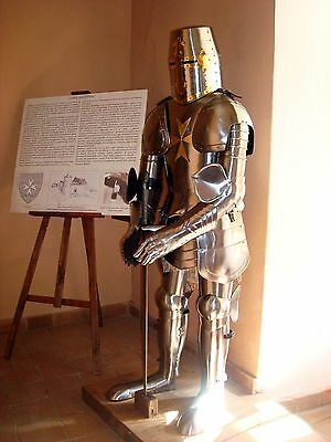 Decorative Knight Suit of Armor Medieval Combat Full Body Armour With Stand AT40
