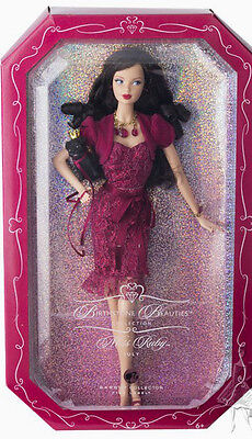 BARBIE BIRTHSTONE BEAUTIES JULY RUBY NRFB - model muse doll collection Mattel