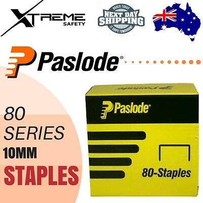 Pneumatic Staples Galvanised Paslode 80 Series10mm Staple Gun A10011