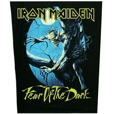 Iron Maiden fear of the dark Back Patch XLG free worldwide shipping