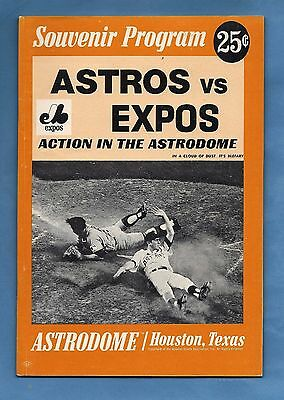 1969 Montreal Expos @ Houston Astros - Program  Astrodome - w/ Ticket Stub