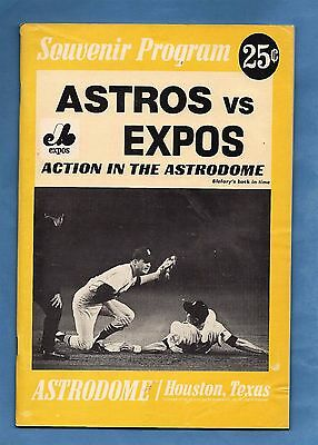 1969 Montreal Expos @ Houston Astros Program - Astrodome