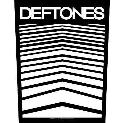 Deftones Abstract Lines Back Patch XLG free worldwide shipping