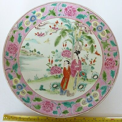Antique Japanese Plate In The Chinese Style