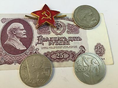 Soviet Cold War is very rare old vintage Lenin USSR coin collection 1961 СССР