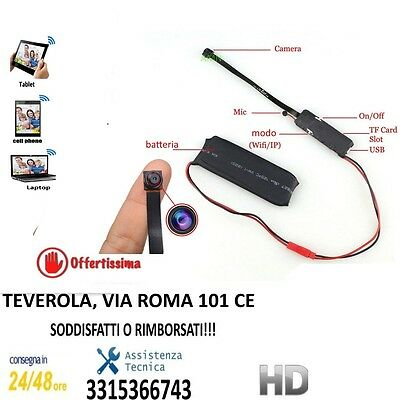 MINI TELECAMERA WIFI da sorveglianza MINI CAMERA WIRELESS NASCOSTA SPY IP