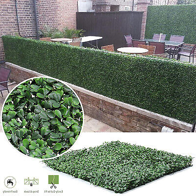 Faux Artificial Boxwood Hedge Panels Indoor Outdoor Privacy Fence Screen Mat In