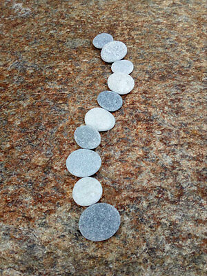 10 Small Flat Stones - Tiny Craft Pebbles Easy To Drill 5 - 10 mm