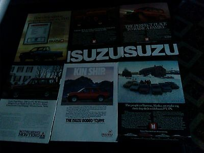 lot of 18 izuzu car magazine print ads 1983-1993 rare ad make save money