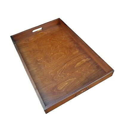 Large Wooden Serving Tray 60cmx40cmx 6cm in Brown Color