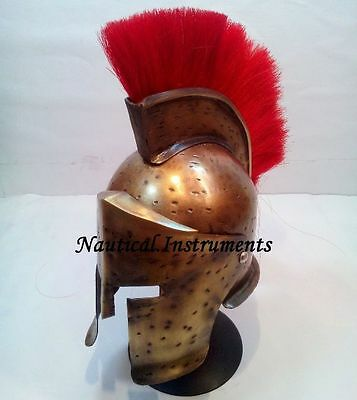Medieval Knight Leonidas Spartan King 300 Movie Mini Armour Helmet With Stand