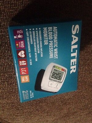 Salter Automatic Wrist Blood Pressure Monitor Watch New Fast Free Post