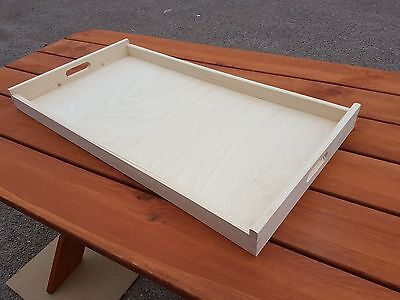 Fantastic Very Big Plain Wood-Wooden Serving Tray 75cmx40cmx6cm For Decoupage