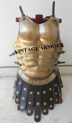 Roman Greek Medieval Muscle Armor Muscle Costume Chrome Armour Cuirass Jacket