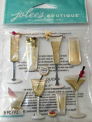 JOLEE'S BOUTIQUE CHAMPAGNE FLUTES & COCKTAILS Drink Alcohol Craft Stickers
