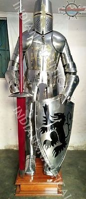 Buy Vintage Knight Suit of Armor Medieval Combat Full Body Armour Suit W/Stand