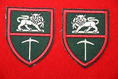 Rhodesian Rhodesia Army & Special Forces Lion & Pick Arm Badge Patch Facing Pair