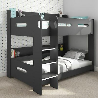 Grey Bunk Bed with Storage - Ladder Can Be Fitted Either Side