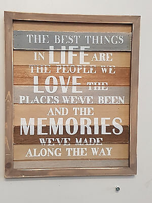 """the Best Things In Life"" Wooden Sign Wall Art Home Decor ++Great Gift Idea ++"