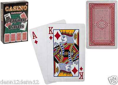 PLAYING CARDS x96 PACKS-JUST 39p!, PLASTIC COATED.SUPPLIED IN DISPLAYS (PM1