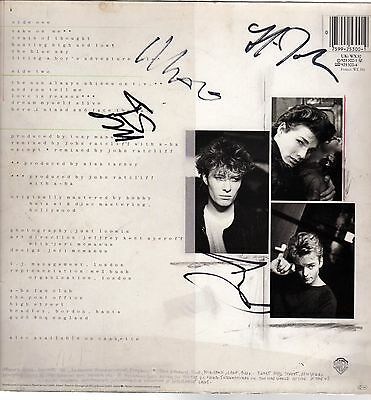 A-HA Hunting High and Low LP Cover Signed by Morten Paul & Magne 4th Signature?