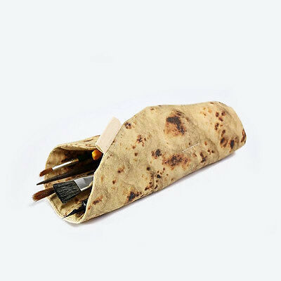Flatbread Real Food like Zipper Pen & Make-up Pouch Pencil Case Funny gift