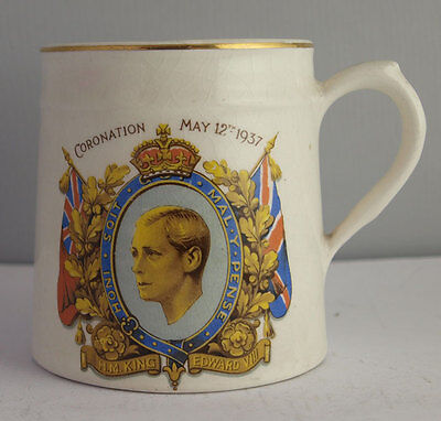 Rare Edward VIII Coronation Commemorative Mug.