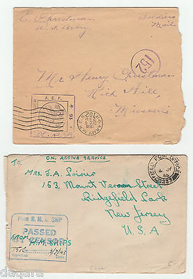 BC.667 - US Covers, lot x 6, 1918, AEF Censored