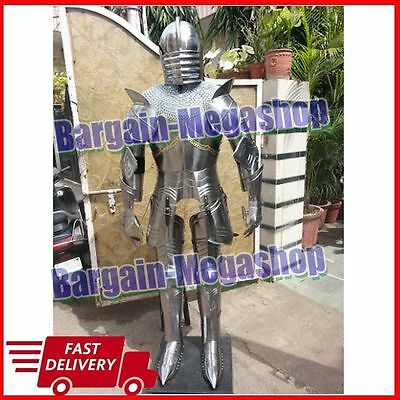Buy Medieval Knight Suit of Armor Medieval Combat Full Body Armour FREE Stand