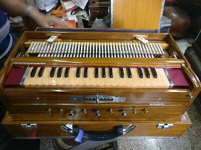 Professional Portable Harmonium 9 Scale Changer German Reed for Concert & Stage