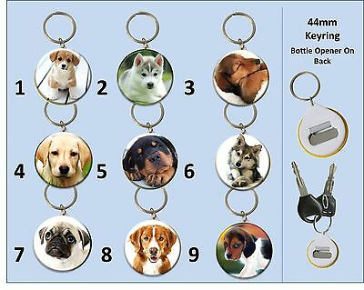 Design Your Own Pet Keyring 44mm Dog, Cat, Bird, etc or Pick a Dog From Below