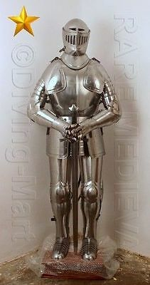 Vintage Crusader Suit of Armor 17th Century Combat Full Body Armour Suit AT110