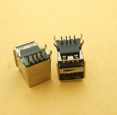Dual / Twin Surface Mount USB Port for Motherboard/Case Repair Right Angle x 2