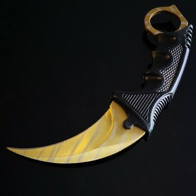 Au Seller CS GO Counter strike Tiger Gold  Fixed Blade Karambit